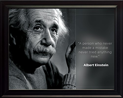 Albert Einstein Photo Picture Poster Framed Quote