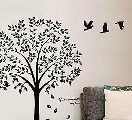 Birds Flying Black Tree Wall Sticker Vinyl Art Decal Mural For Home D??cor