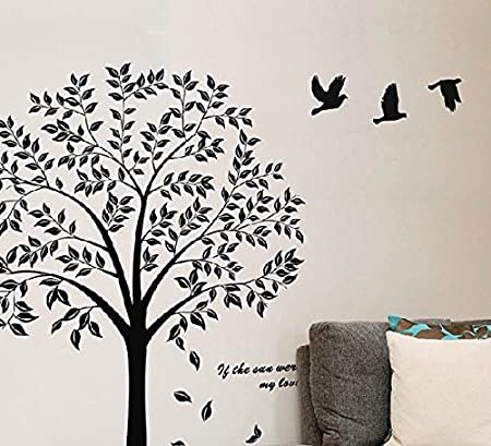 Black Tree Wall Decals   Tree Of Life Wall Decal Stickers,Tree Wall Decals ,