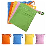 Saver Waterproof Reusable Baby Nappy Bag Diaper Pouch Travel Zip Dry Wet Cloth Tote