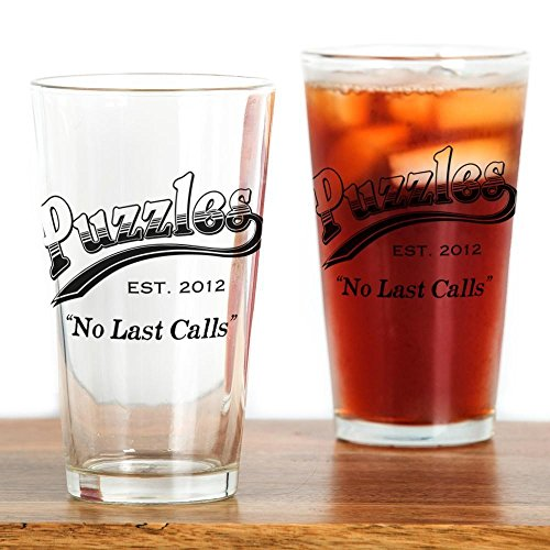 (CafePress Puzzles Bar Pint Glass, 16 oz. Drinking Glass)