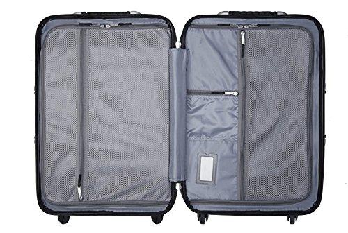 VinGardeValise Wine Travel Suitcase (12 Bottle) Newest Model (One Size, Silver) by Vin Garde Valise (Image #4)'