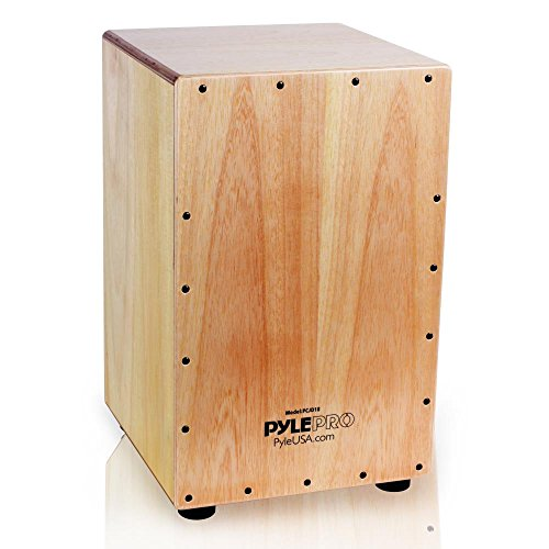 Pyle String Cajon - Wooden Percussion Box, with Internal Guitar Strings, Full Size (PCJD18) from Pyle