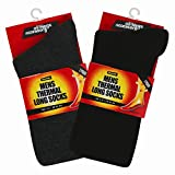 2 Pairs of Thermal Socks. 2.3 TOG Extra Warmth Heat Brushed Sock For Mens Suitable for Winter, Outdoor Work, Travel, Camping & Ski Wear by AllThingsAccessory®