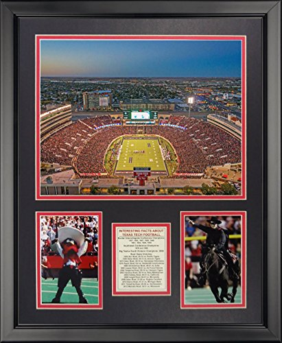 Legends Never Die Texas Tech University - Red Raiders Football Stadium Framed Photo Collage, 16