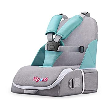 Travel Booster Seat for Family and Toddler Dining, Multi-Function Folding  Baby Chair, 5-Point Seat...