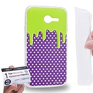 Case88 [Asus Zenfone 4 A400CG] Gel TPU Carcasa/Funda & Tarjeta de garantía - Art Fashion Melting Dotted Pattern Art1233