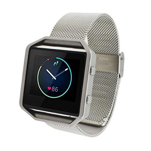 Genuine Steel Watchband Wrist Band Strap For Fitbit Blaze Activity Tracker watch from Susenstone®610