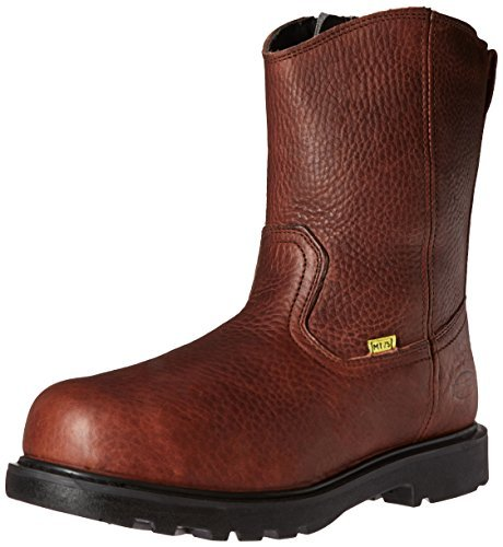Iron Age Men's Hauler Wellington Side-Zipper Work Boot Composite Toe Brown 7 D(M) US