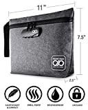 Smell Proof Bag with Combination Lock + Grinder