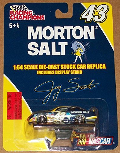 - 2001 Racing Champions NASCAR Jay Sauter Die-Cast Stock Car Replica Includes Display Stand #43 1:64 Morton Salt Item No. 20602P