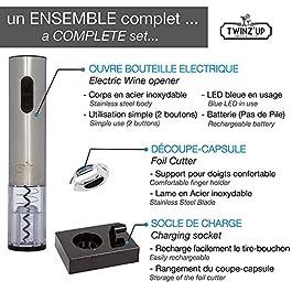 Elektrischer Korkenzieher – Schnurlos – Box mit Folienschneider und Ladestation