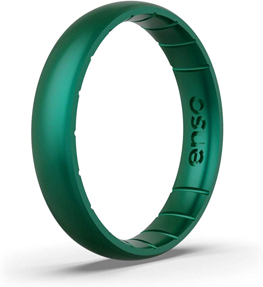Lifetime Quality Guarantee Breathable Enso Rings Thin Birthstone Silicone Ring and Safe Made in The USA Comfortable