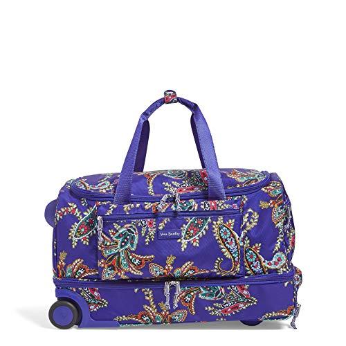 Vera Bradley Rolling Luggage - Vera Bradley Lighten Up Foldable Rolling Duffel, Polyester, Paisley Swirls