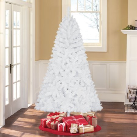 6' White Deluxe Christmas Tree with Free Metal Stand (White Deluxe Christmas Tree)