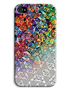 Black & White Colour Geometric Design iPhone 5/5s Hard Case Cover