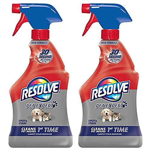 Resolve Pet Carpet Spot & Stain Remover Spray, 22oz (Pack of 2)