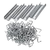 3/4'' Hog Rings, Popmall Closed 3/8'' Hog Rings for cages, traps, fencing, sausage casings, upholstery Hog Rings 600 count
