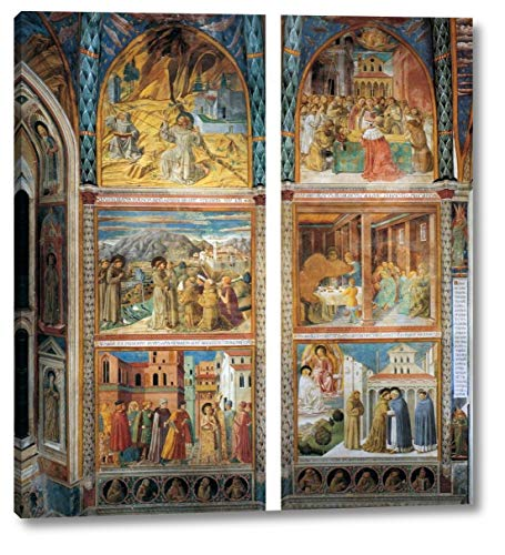 Scenes from The Life of St Francis South Wall by Benozzo Di Lese Di Sandro Gozzoli - 20