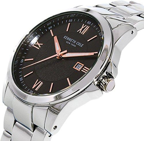 Kenneth Cole Men's 10031362 Silver Stainless-Steel Quartz Dress Watch