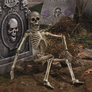 Halloween Posable Skeleton Outdoor Garden Decor