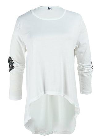 La vogue Camisetas Manga Larga Mujeres Dobladillo Irregular: Amazon.es: Deportes y aire libre