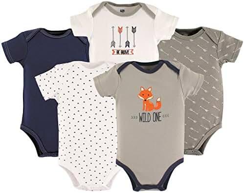 Hudson Baby 5-Pack Hanging Bodysuit