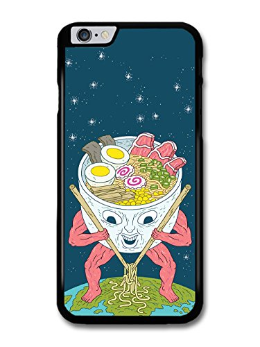 Ramen Alien with Noodle Soup Weird Funny Japanese Design case for iPhone 6 Plus 6S Plus