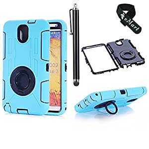 vMart Camera Appearance Design Hybrid Hard Case With Stand Case Cover for Samsung Galaxy III/Note 3,Light Blue