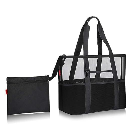 YOOFAN Extra Grande Bolso de Compras Reutilizable Bolsas de Supermercado Plegables con 13 Compartimentos de Almacenamiento,Bolso de Compras de Mallas ...