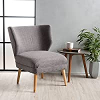 Dumont Mid Century Modern Fabric Accent Chair (Grey)