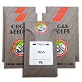 50 Organ HLX5 TITATNIUM (PD) High Speed Needles for Quilting, Jeans, Applique or Heavy Embroidery ~ Multiple Sizes! (Metric 80/12)