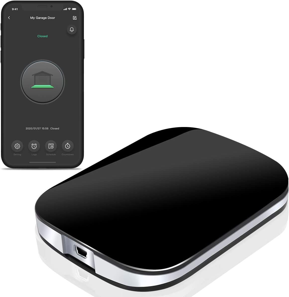 Smart Wi Fi Garage Door Opener Wireless Garage Door Remote Open And Close Garage Door From Anywhere Compatible With Amazon Alexa Google Assistant Amazon Com