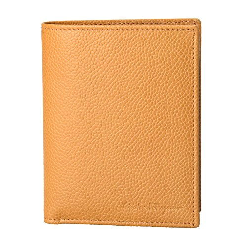 Salvatore Brown Leather Ferragamo Salvatore Men's Ferragamo Bifold Wallet Light Textured 5qw41xX