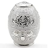 AVESON Vintage Metal Automatic Toothpick Holder, Auto Toothpicks Box Case Dispenser for Home Hotel Restaurant Party Decoration, Silver
