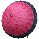 Samurai market Traditional Japanese Umbrella with Water Magic: 5 (Dark Red)