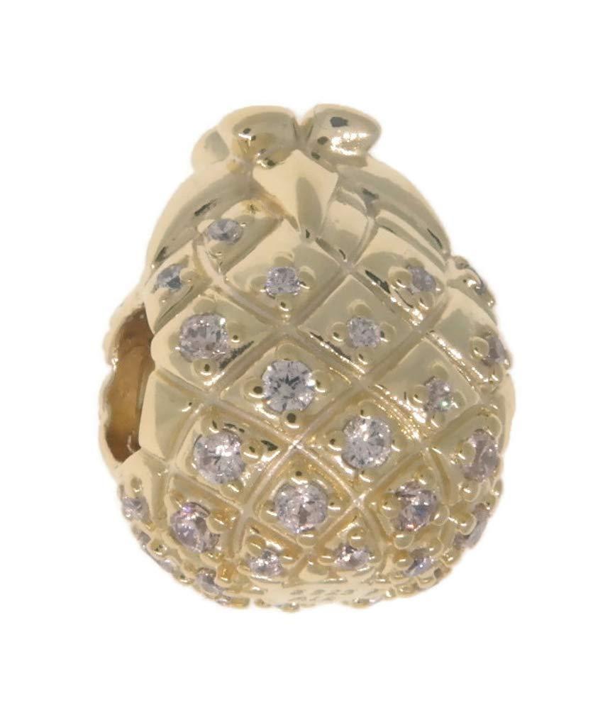 PANDORA Golden Pineapple 18k Gold Plated PANDORA Shine Collection Charm - 767904CCZ by PANDORA (Image #2)