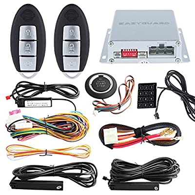 EASYGUARD EC002-NI smart key car alarm system remote engine start push button start touch password entry universal version Hopping Code FSK technology from Easyguard electronics ltd