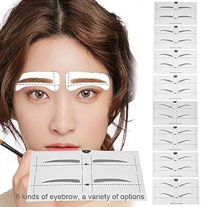 Amazon com: Sala-Ctr - 8 Types Eyebrow Stencil Eye Makeup