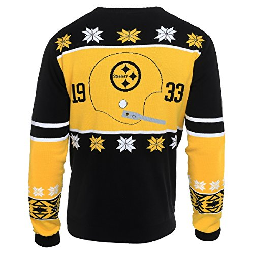 NFL Pittsburgh STEELERS Unisex NFL Cotton Retro Sweater, Small Photo #2
