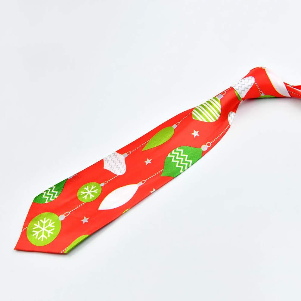 Cravate de No/ël imprim/é Floral No/ël P/èreArbre Renne Soir/ée du Festival Cute D/écoration Bringbring
