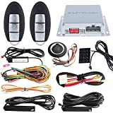 EASYGUARD EC002-NI smart key car alarm system remote engine start push button start touch password entry universal version Hopping Code FSK technology