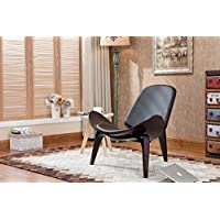 Boraam 98368 Shell Side Chair, Dark Walnut