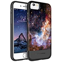 iPhone 6 Case, iPhone 6S Case, iPhone 6S 6 Nebula Case, BENTOBEN Slim Hybrid Shockproof Drop Protection [Nebula Galaxy Outer Space Universe Pattern Design] Hard PC Back Cover Soft TPU Bumper Rubber Protective Phone Cases for Apple iPhone 6/ 6S 4.7 Inch, Purple/Black