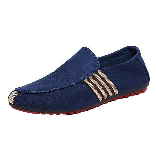 Mocasines De Gamuza para Hombres Mocasines De Verano Zapatos De ConduccióN CóModos Slip-On Casual