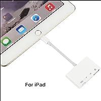 MeterMall 4 en 1 Adaptador de cámara Lightning a USB SD/TF Lector de Tarjetas USB 3.0 OTG Cable Electrónico
