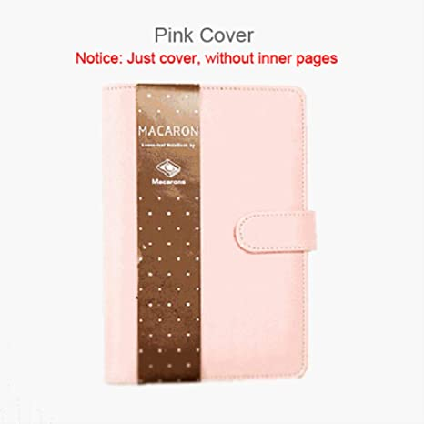 Amazon.com : Macaron Leather Spiral Notebook Original Office ...