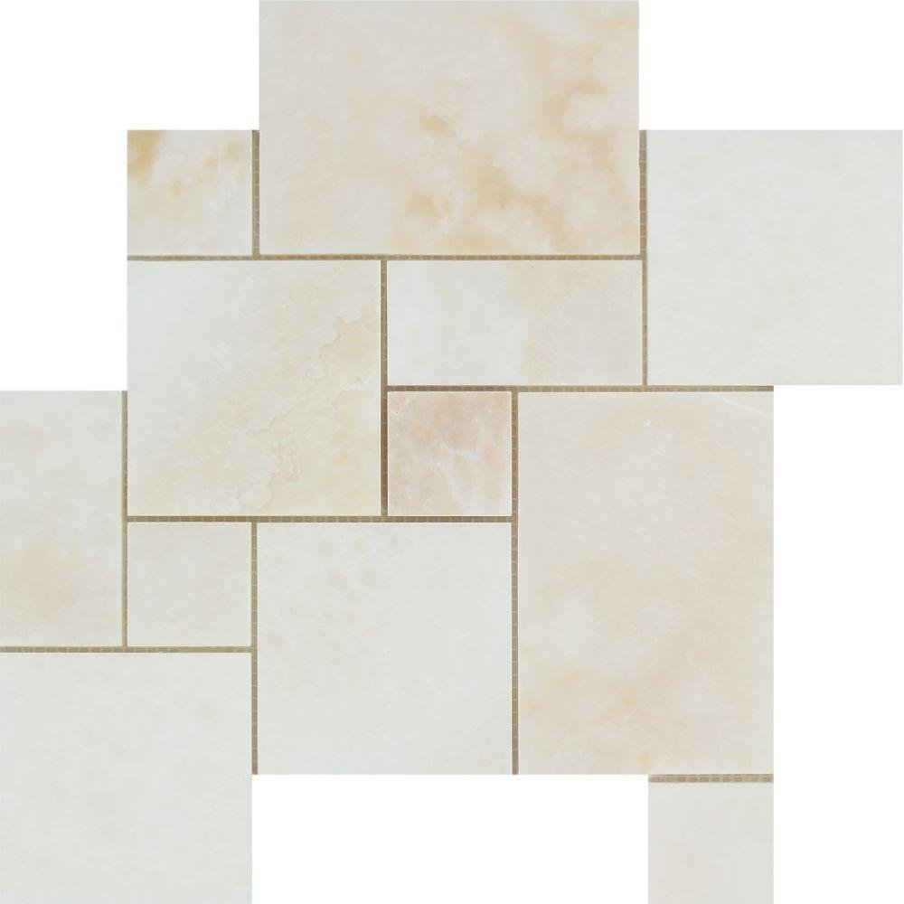 Amazon.com: White Onyx Polished Opus Mini Pattern Mosaic - (Cross ...