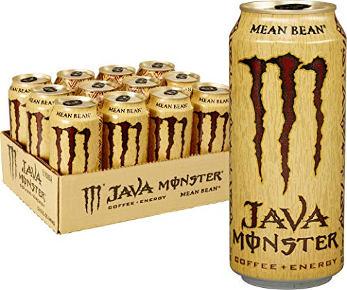 Java Giant Coffee - Java Monster Mean Bean, Coffee + Energy Drink, 15 Ounce (Pack of 12)