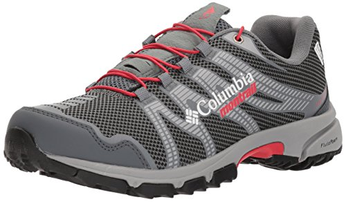 Columbia Montrail Women's Mountain Masochist IV Outdry Trail Running Shoe, Graphite, red Camellia, 5.5 B US Review